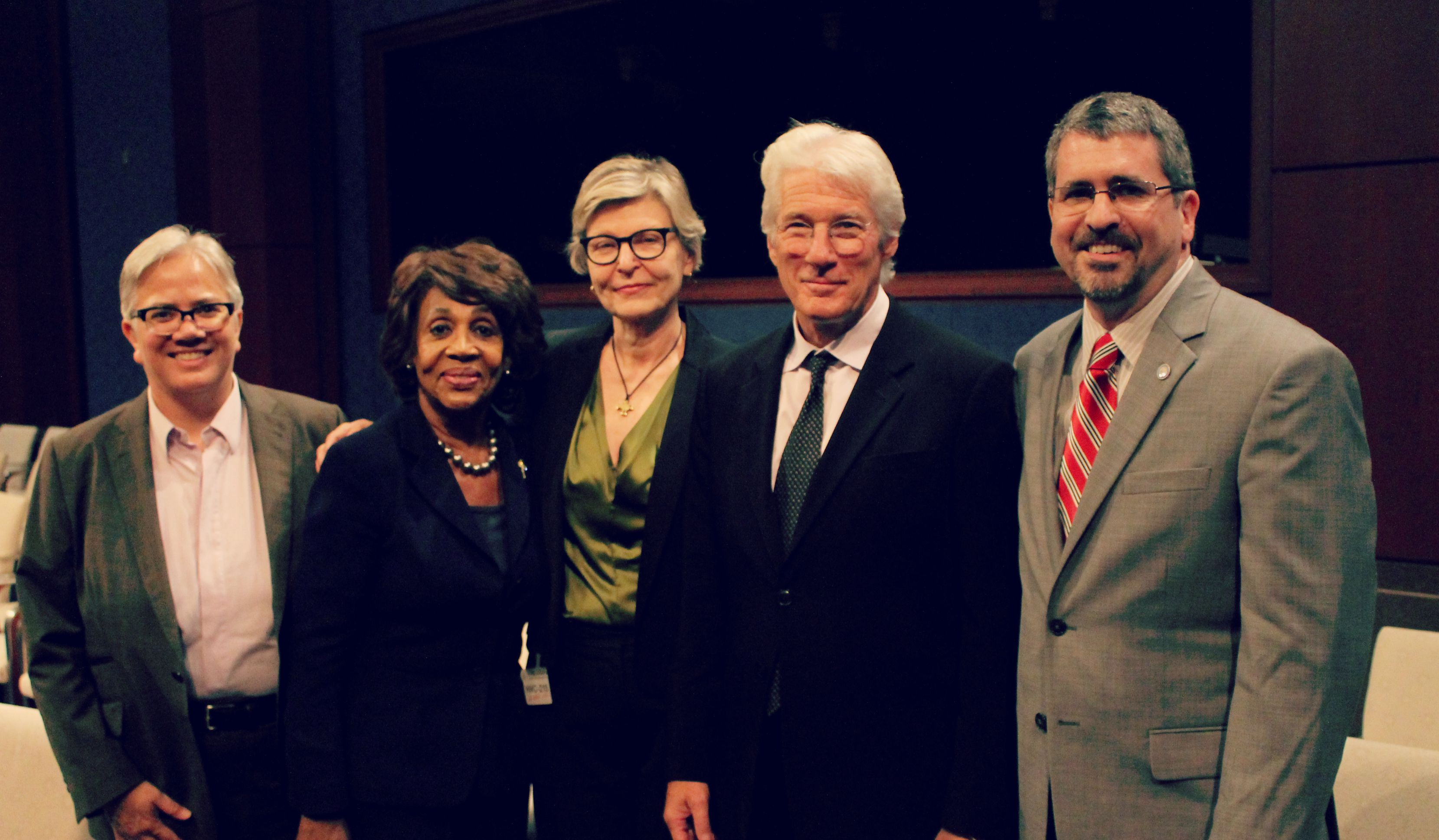 Congresswoman Waters with Panelists