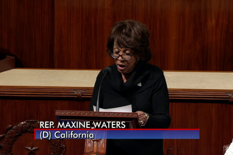 Rep. Maxine Waters Applauds SpaceX for Successful Falcon Heavy Rocket Launch