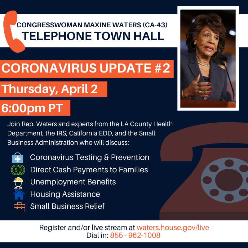Telephone Town Hall - April 2, 2020
